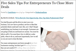 Clipping - Five Sales Tips